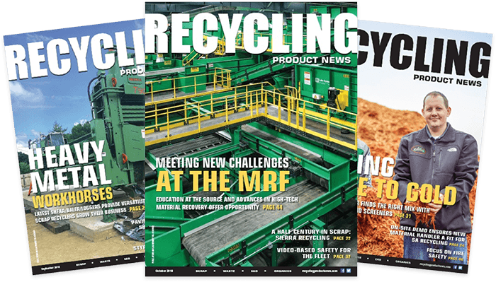 Get your cover of Recycling Product News
